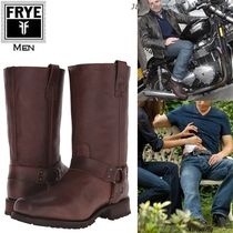 FRYE Studded Plain Leather Engineer Boots