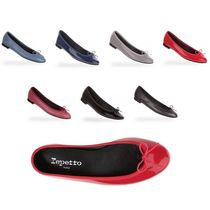 repetto Plain Leather Ballet Shoes