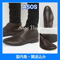 ASOS Plain Toe Faux Fur Collaboration Plain Chukkas Boots