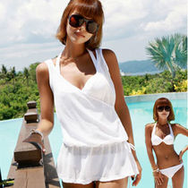 Street Style Plain Beach Cover-Ups