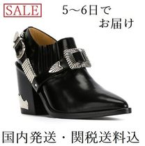 TOGA Blended Fabrics Plain Leather Block Heels