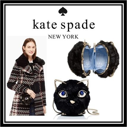 kate spade new york Faux Fur 2WAY Chain Plain Party Style Clutches