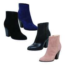 Nine West Casual Style Suede Plain Block Heels Ankle & Booties Boots