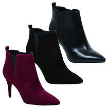 Nine West Suede Plain Pin Heels Chelsea Boots Ankle & Booties Boots