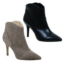 Nine West Cowboy Boots Plain Pin Heels High Heel Boots