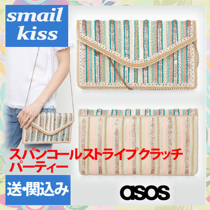 ASOS span call Strip clutch / party only