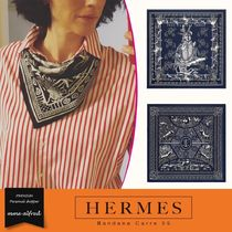 HERMES Casual Style Unisex Silk Lightweight Scarves & Shawls