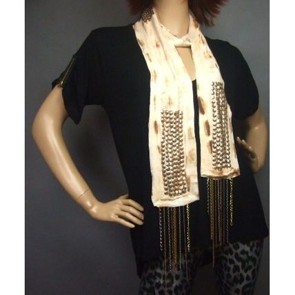 Tie-dye Chain Cotton Lightweight Scarves & Shawls