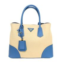 PRADA DOUBLE 2WAY Leather Totes