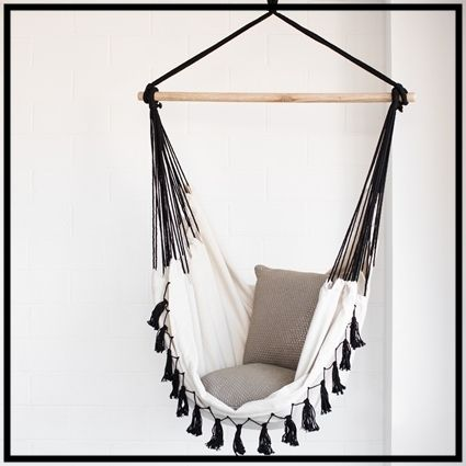 Swinging-cute fringe with hammock