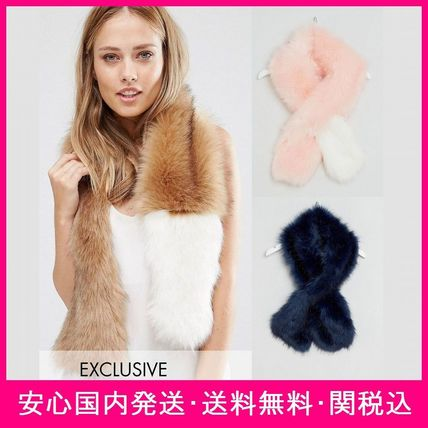 My Accessories software faux leather scarf