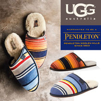 UGG Australia SCUFF Stripes Plain Toe Sheepskin Collaboration Home Party Ideas