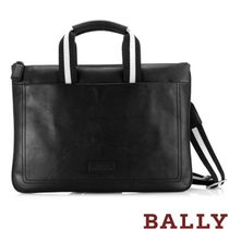 BALLY A4 2WAY Plain Leather Business & Briefcases