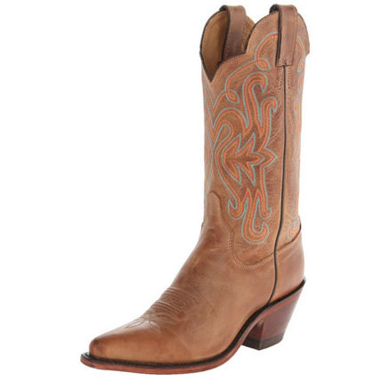 Cowboy Boots Casual Style Leather Mid Heel Boots
