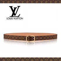 Louis Vuitton Other Check Patterns Leather Elegant Style Belts