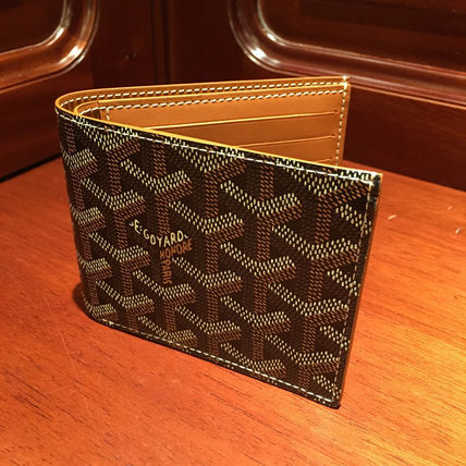 Goyard men's bifold wallet flap black GOYARD