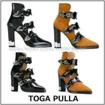 TOGA Street Style Plain Leather Block Heels Party Style