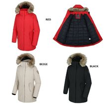 THE NORTH FACE Stand Collar Coats Argile Casual Style Wool Street Style