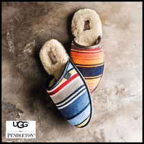 UGG Australia Stripes Sheepskin Collaboration Shoes