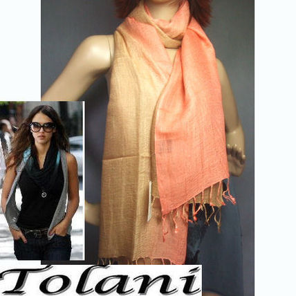 Bi-color Cotton Lightweight Scarves & Shawls