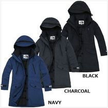 THE NORTH FACE Argile Wool Street Style Plain Long Down Jackets