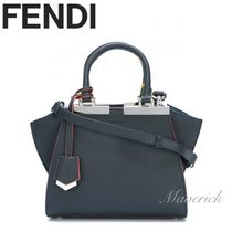 FENDI 3JOURS Mini Handbag / Dark Blue