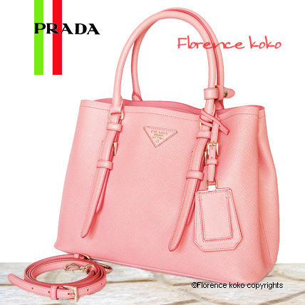 48928a96d7c1 PRADA SAFFIANO LUX 2016-17AW Coral Pink Saffiano Lux Tote Bag by ...