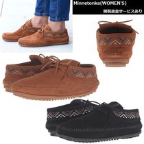Minnetonka Lace-up Casual Style Suede Fringes Lace-up Boots