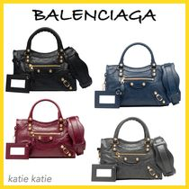BALENCIAGA CITY Giant 12 Gold Mini Crossbody Bag (Black/Grey/Navy/Red)