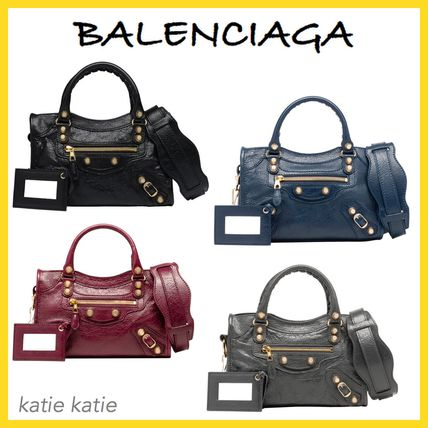 ... BALENCIAGA Totes Giant 12 Gold Mini Crossbody Bag (Black Grey Navy Red  ... 920f8f006414a