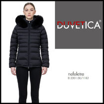 DUVETICA Short Fur Plain Down Jackets