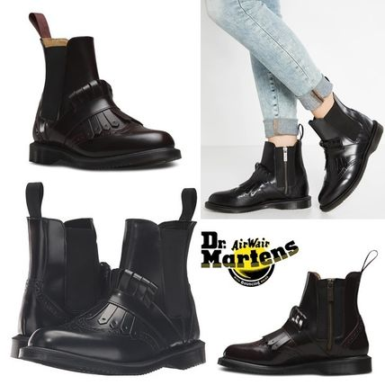 Dr Martens Plain Toe Tassel Plain Leather Chelsea Boots