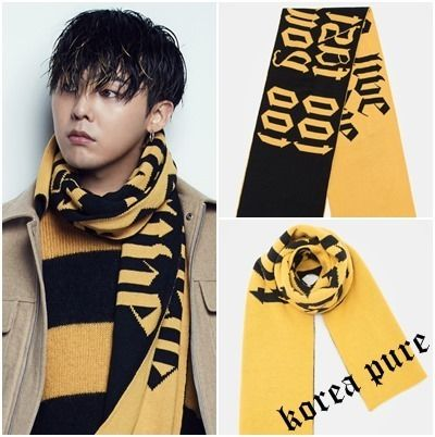8 X Lettering Muffler GD Collaboration Unisex