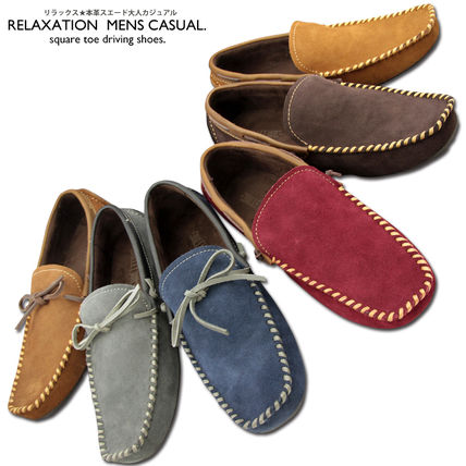 Driving Shoes Leather Loafers & Slip-ons