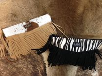 Leopard Patterns Casual Style Suede Fringes Tribal Crossbody