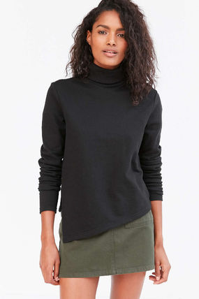 Short Casual Style Street Style Long Sleeves Plain