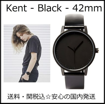 Casual Style Unisex Leather Round Quartz Watches