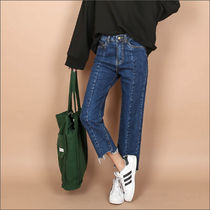 Denim Street Style Plain Long Jeans