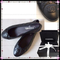 CHANEL Leather Elegant Style Ballet Shoes