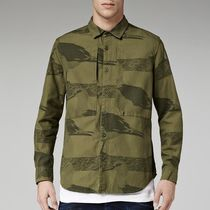 G-Star Button-down Camouflage Street Style Long Sleeves Cotton