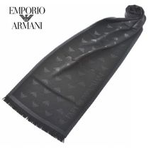 EMPORIO ARMANI Wool Fringes Scarves