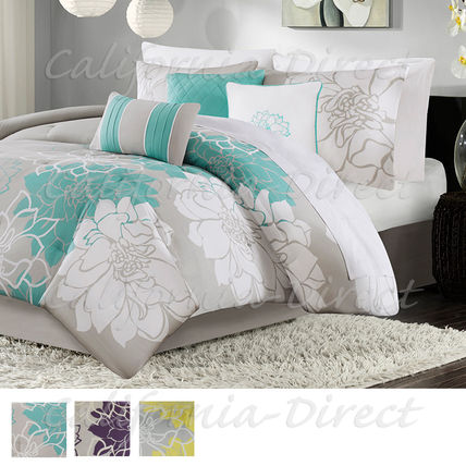 Madison Park Lola cotton TC 200 quilt cover, 6-piece set