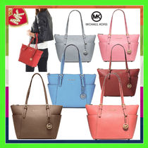 Michael Kors JET SET TRAVEL Saffiano Plain Office Style Totes