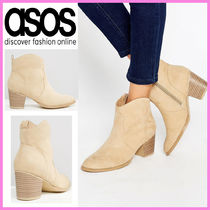 ASOS Plain Block Heels Ankle & Booties Boots