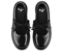 Dr Martens Platform Round Toe Casual Style Street Style Plain Leather