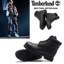 Timberland Mountain Boots Street Style Plain Leather Shoes
