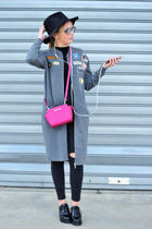 ZARA Stand Collar Coats Leopard Patterns Casual Style Coats