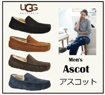 UGG Australia ASCOT Plain Toe Sheepskin Plain Loafers & Slip-ons
