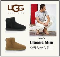 UGG Australia CLASSIC MINI Plain Toe Sheepskin Plain Shoes