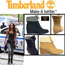 Timberland Casual Style Plain Leather Chelsea Boots Wedge Boots